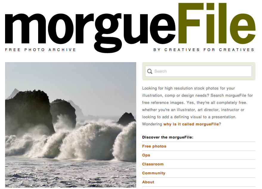 morguefile homepage
